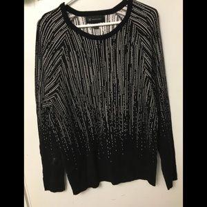 INC Large black and white sweatshirt NWOT